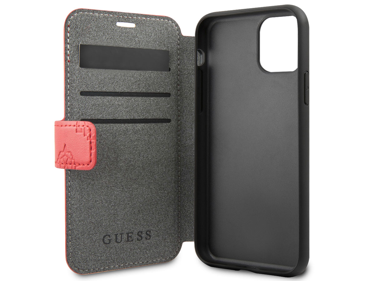 Guess 4G Peony Bookcase Rood | iPhone 11 Pro hoesje