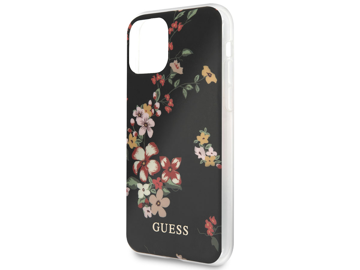 Guess Floral TPU Skin Case No. 4 - iPhone 11 Pro hoesje