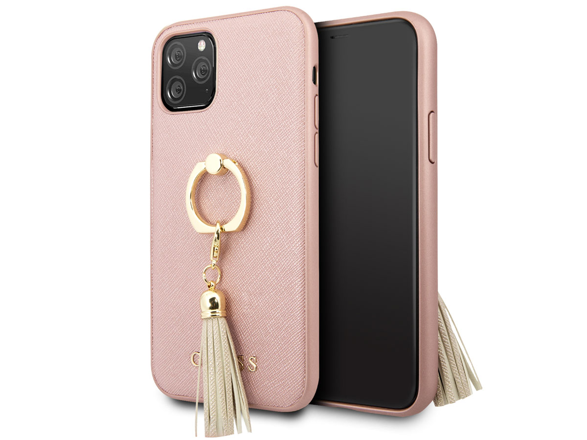 Guess Tassel iRing Case Rose - iPhone 11 Pro hoesje Rose goud