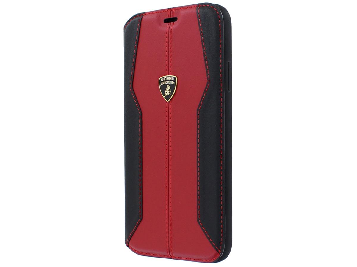 Lamborghini Leather Bookcase Rood - iPhone 11 Pro hoesje