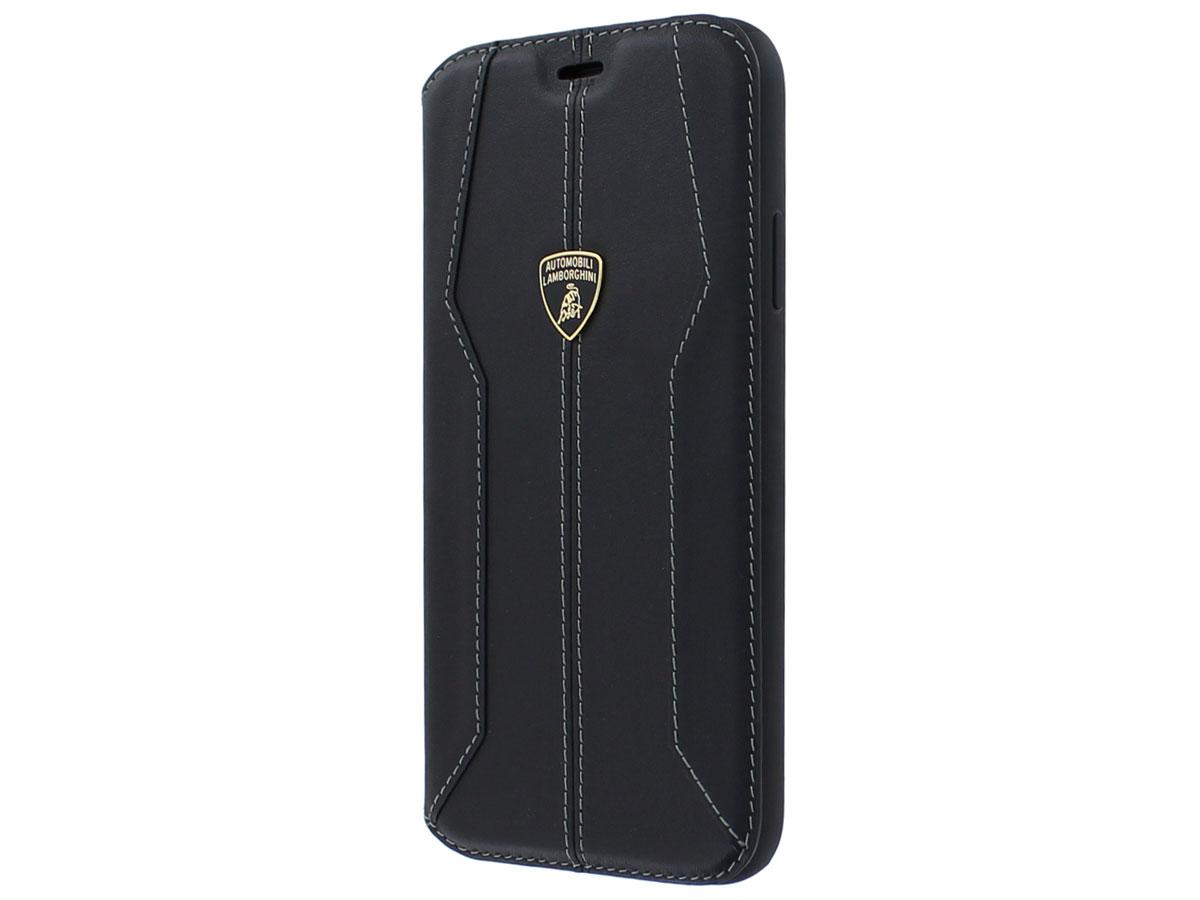 Lamborghini Leather Bookcase Zwart - iPhone 11 Pro hoesje