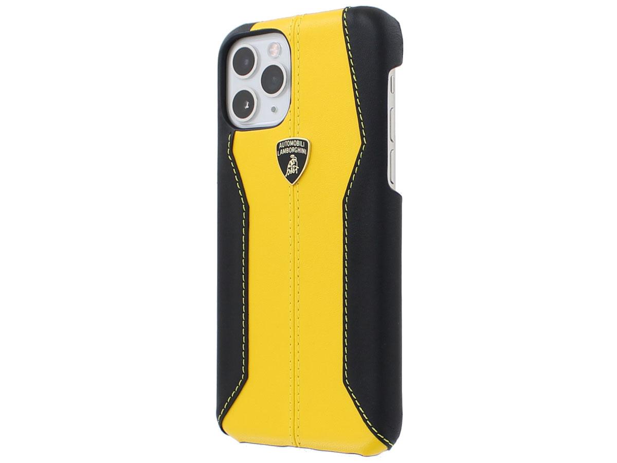Lamborghini Leather Case Geel - iPhone 11 Pro hoesje