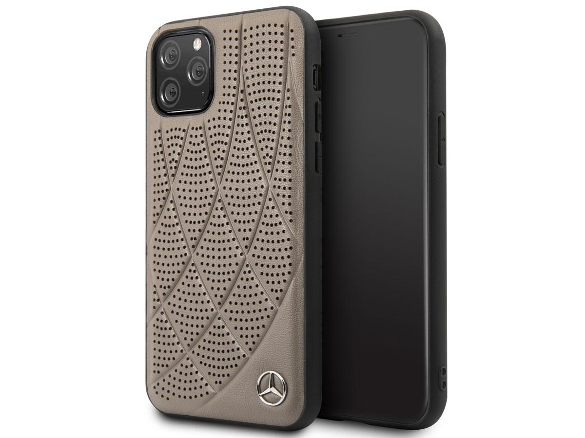 Mercedes-Benz Leather Case Bruin - iPhone 11 Pro hoesje