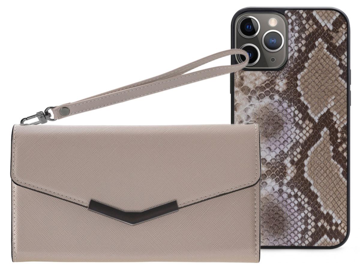 Mobilize Elegant Magnet Clutch Beige Snake - iPhone 11 Pro hoesje
