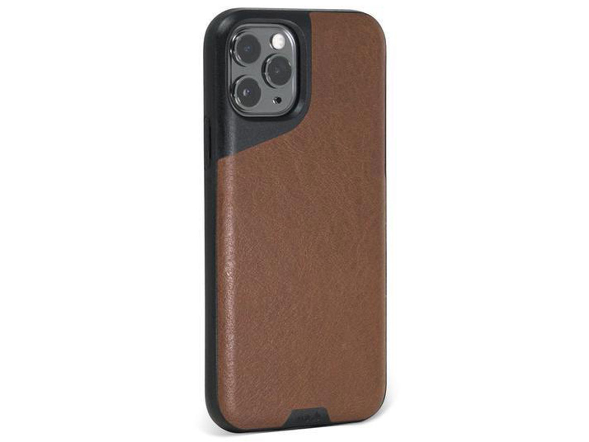 Mous Contour Leather Case Bruin - iPhone 11 Pro hoesje