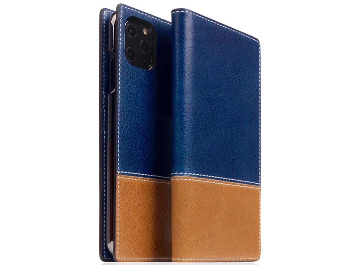 SLG Design D+ Temponata Bookcase Blauw - iPhone 11 Pro hoesje