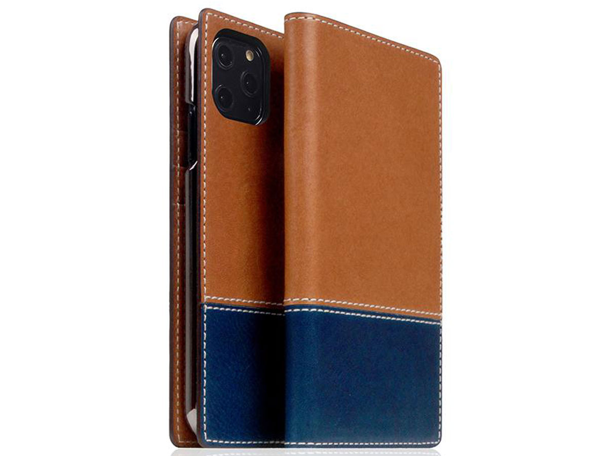 SLG Design D+ Temponata Bookcase Tan - iPhone 11 Pro hoesje Cognac