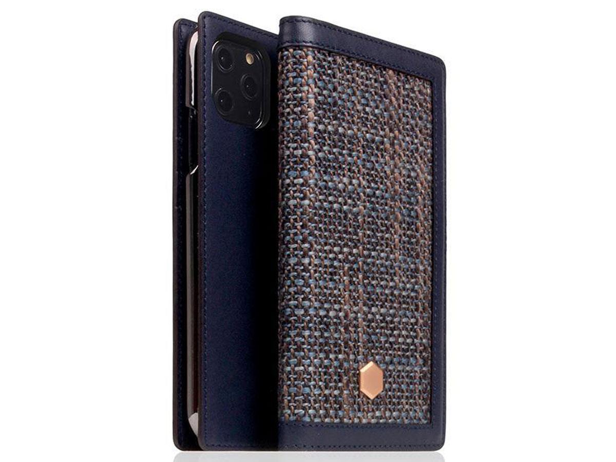 SLG Design D5 CSL Navy Leer - iPhone 11 Pro hoesje Donkerblauw