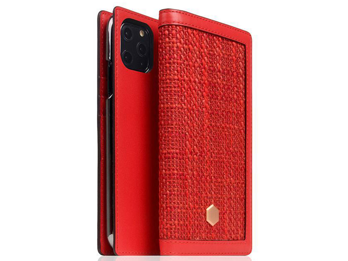 SLG Design D5 CSL Rood Leer - iPhone 11 Pro hoesje