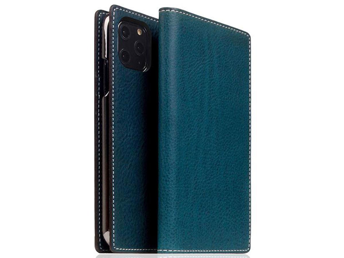 SLG Design D6 Minerva Bookcase Blauw - iPhone 11 Pro hoesje