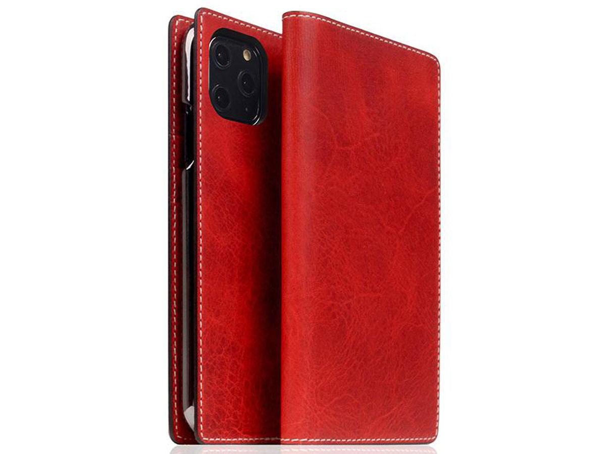 SLG Design D7 Italian Wax Leer Rood - iPhone 11 Pro hoesje