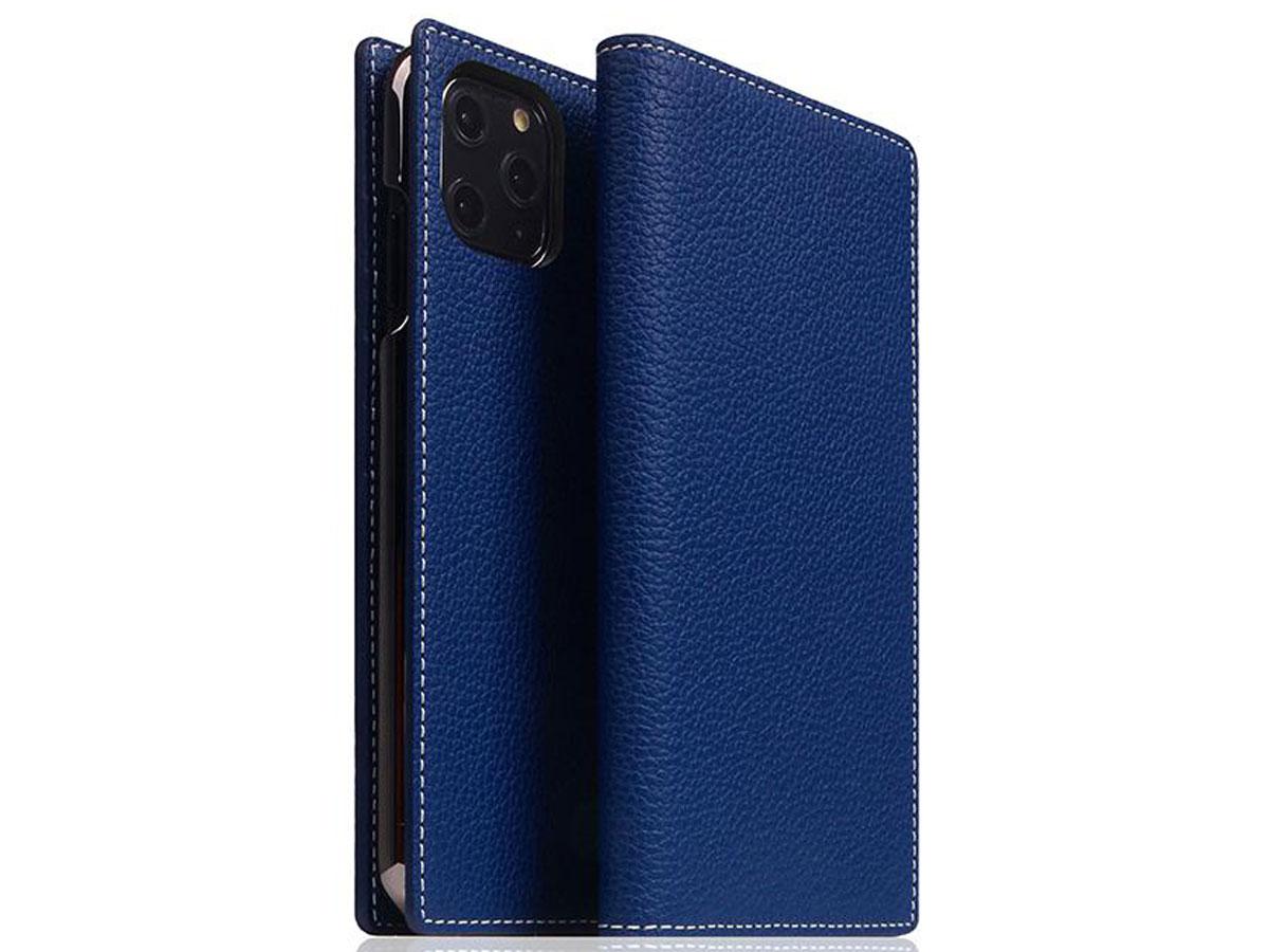 SLG Design D8 Folio Leer Navy Blue - iPhone 11 Pro hoesje Blauw