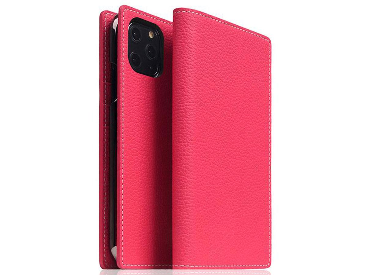 SLG Design D8 Folio Leer Pink Rose - iPhone 11 Pro hoesje Roze