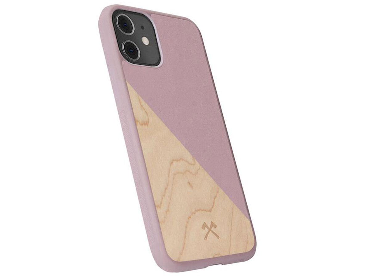 Woodcessories EcoSplit Roze - Houten iPhone 11 Pro hoesje