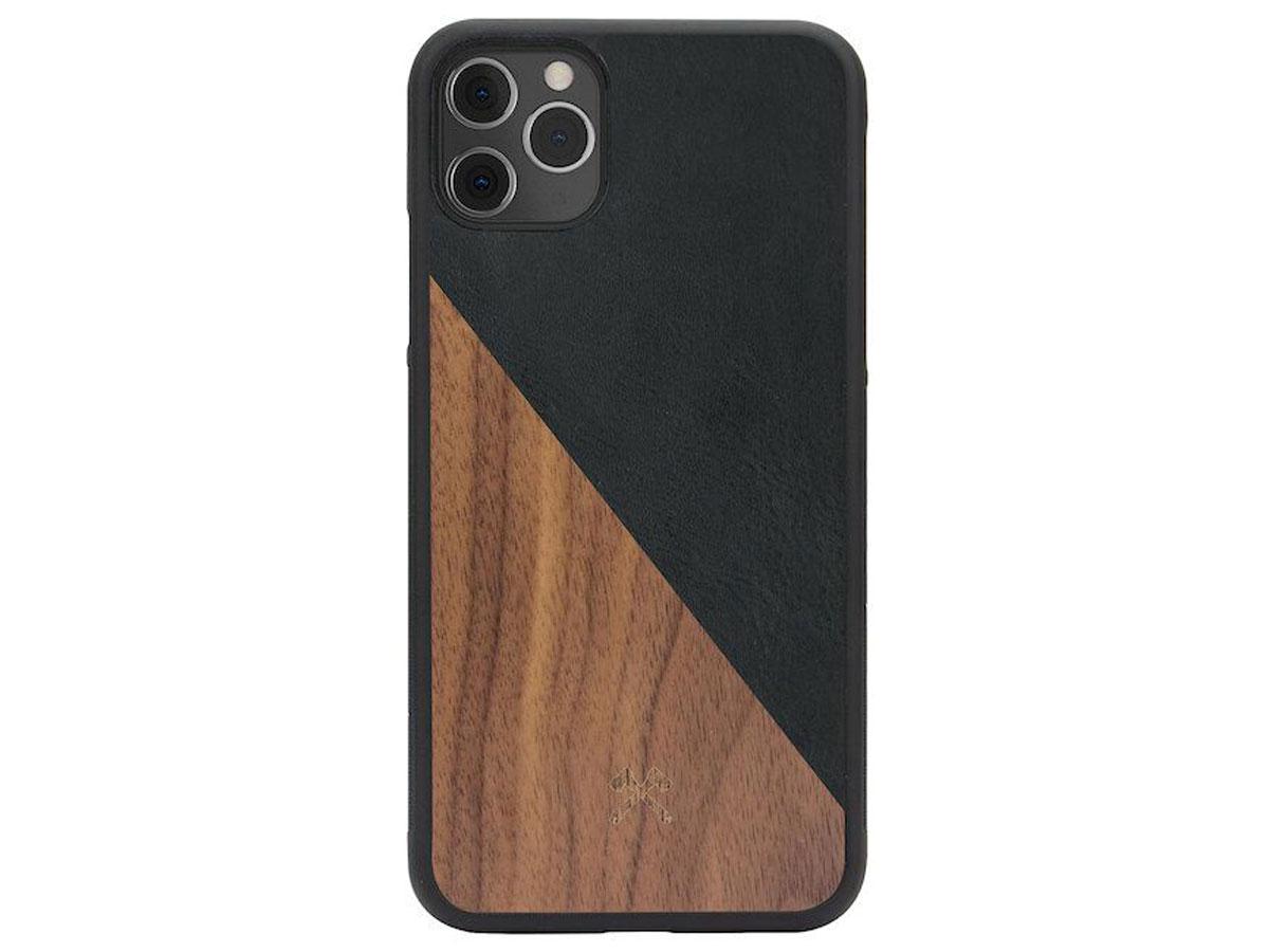 Woodcessories EcoSplit Zwart - Houten iPhone 11 Pro hoesje