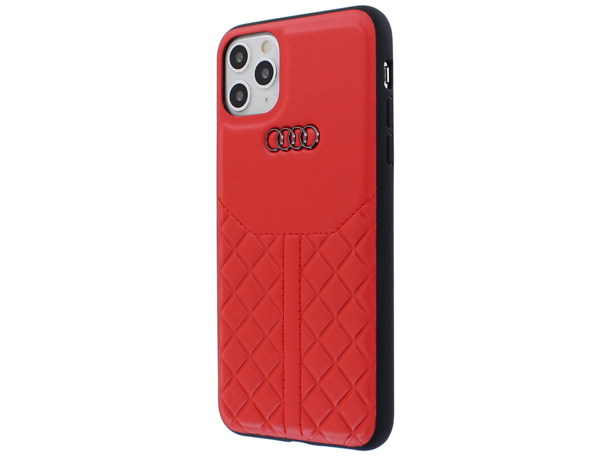 Audi Q8 Series Case Rood Leer - iPhone 11 Pro Max hoesje
