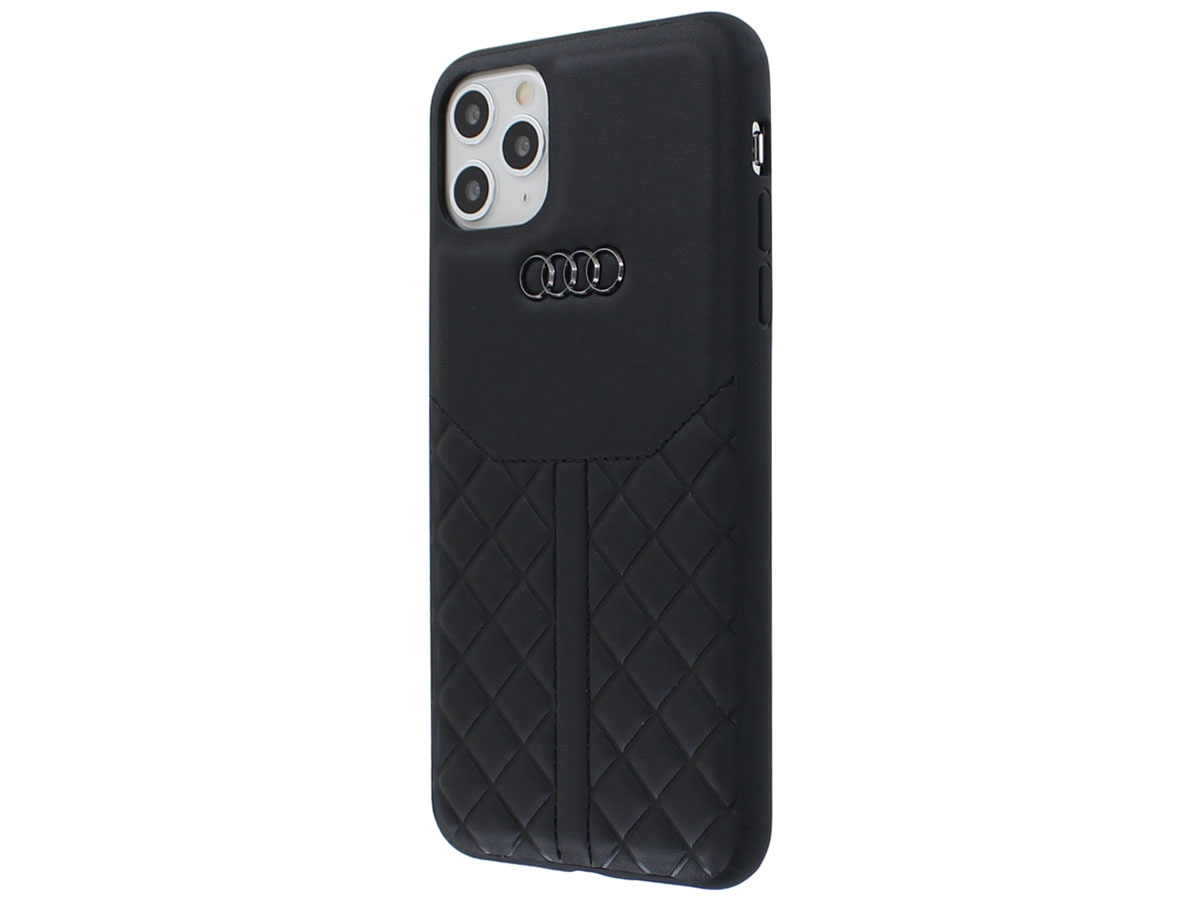 Audi Q8 Series Case Zwart Leer - iPhone 11 Pro Max hoesje