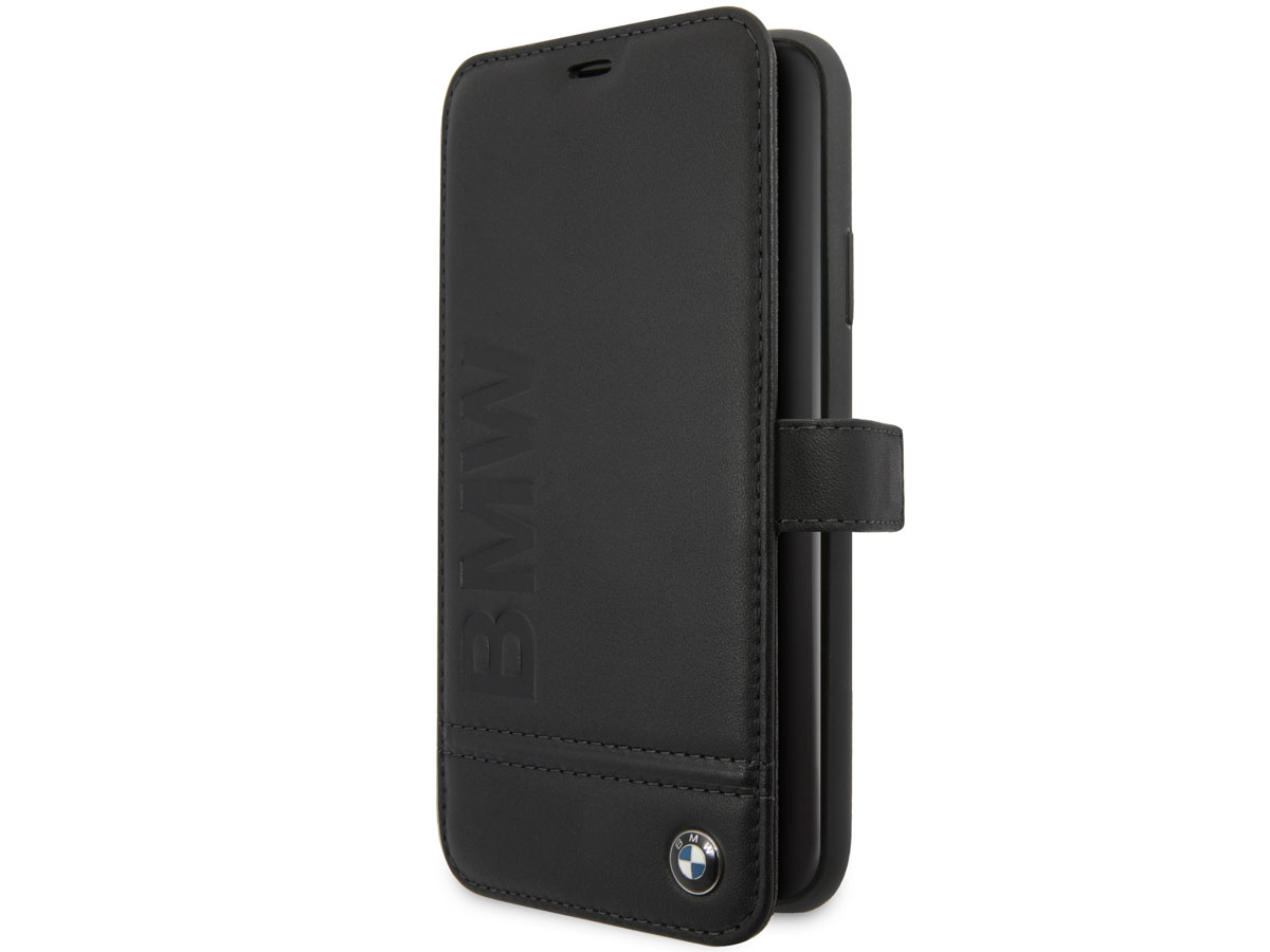 BMW Signature Bookcase Zwart Leer - iPhone 11 Pro Max hoesje