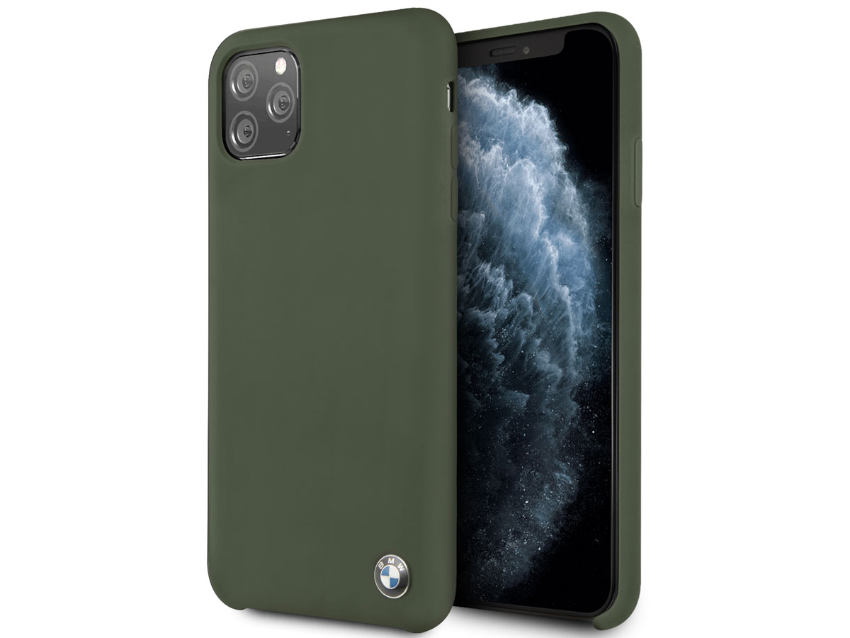 BMW Signature Silicone Case Groen - iPhone 11 Pro Max Hoesje