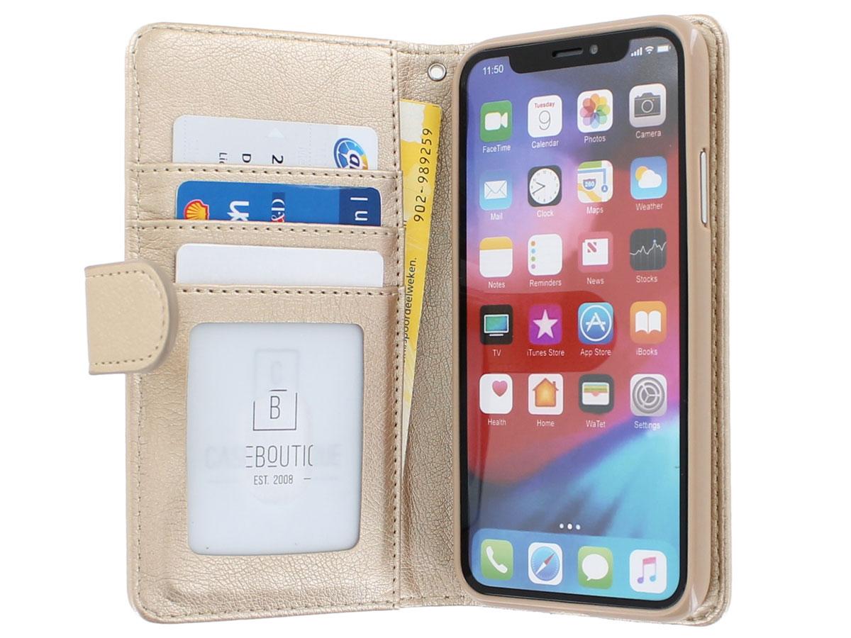 Glitsie Zip Case met Rits Goud - iPhone 11 Pro Max hoesje