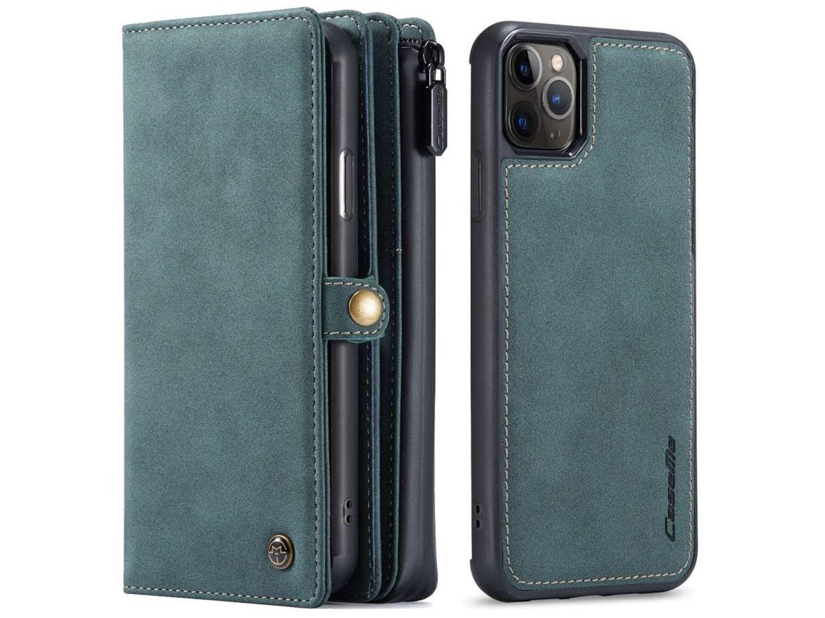 CaseMe Multi Wallet Ritsvak Case Blauw - iPhone 11 Pro Max Hoesje