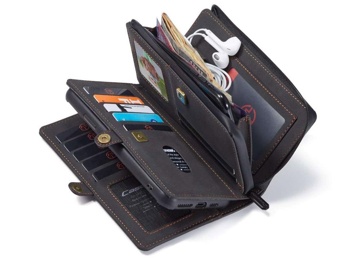 CaseMe Multi Wallet Ritsvak Case Zwart - iPhone 11 Pro Max Hoesje