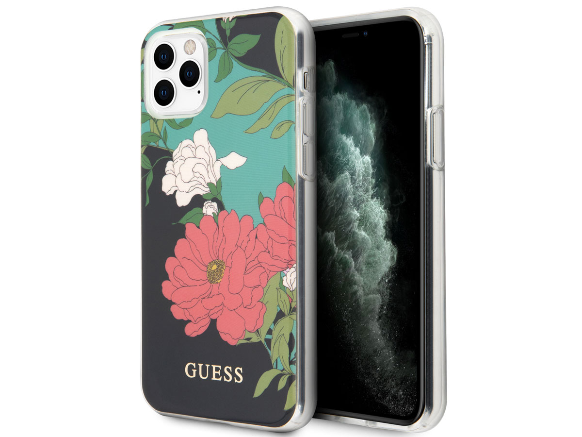 Guess Floral TPU Skin Case No. 1 - iPhone 11 Pro Max hoesje