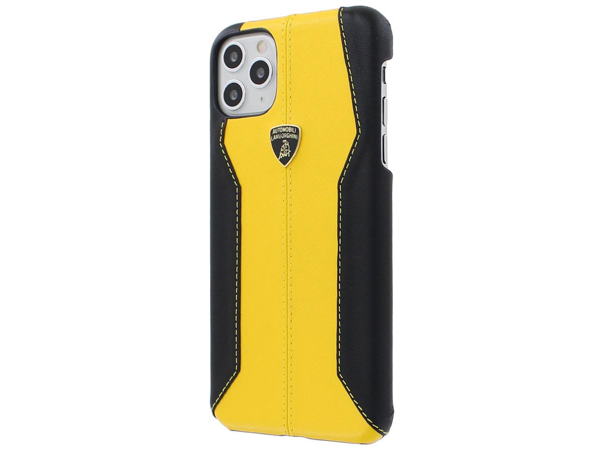 Lamborghini Leather Case Geel - iPhone 11 Pro Max hoesje