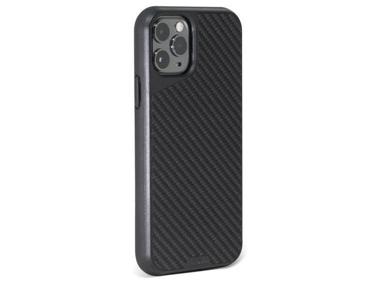 Mous AraMax Carbon Case Zwart - iPhone 11 Pro Max hoesje