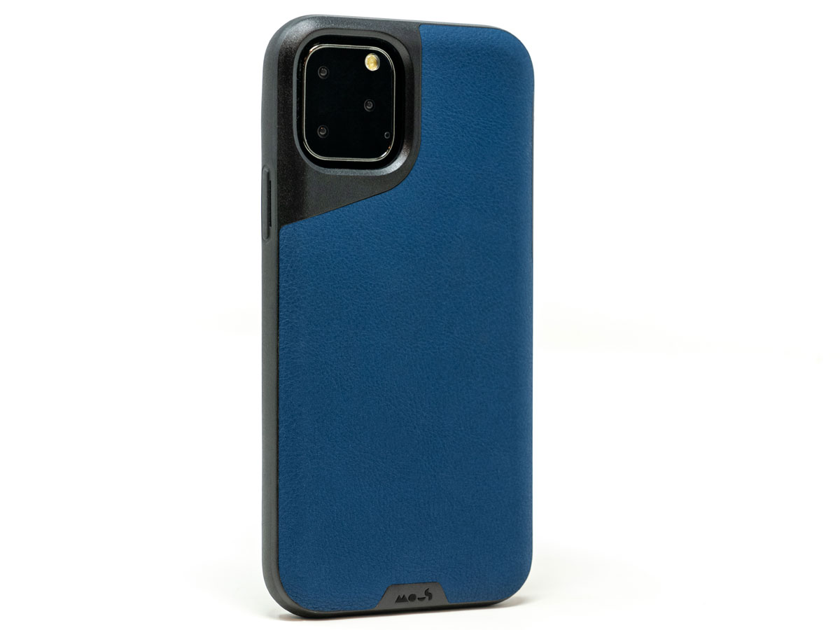 Mous Contour Leather Case Blauw - iPhone 11 Pro Max hoesje