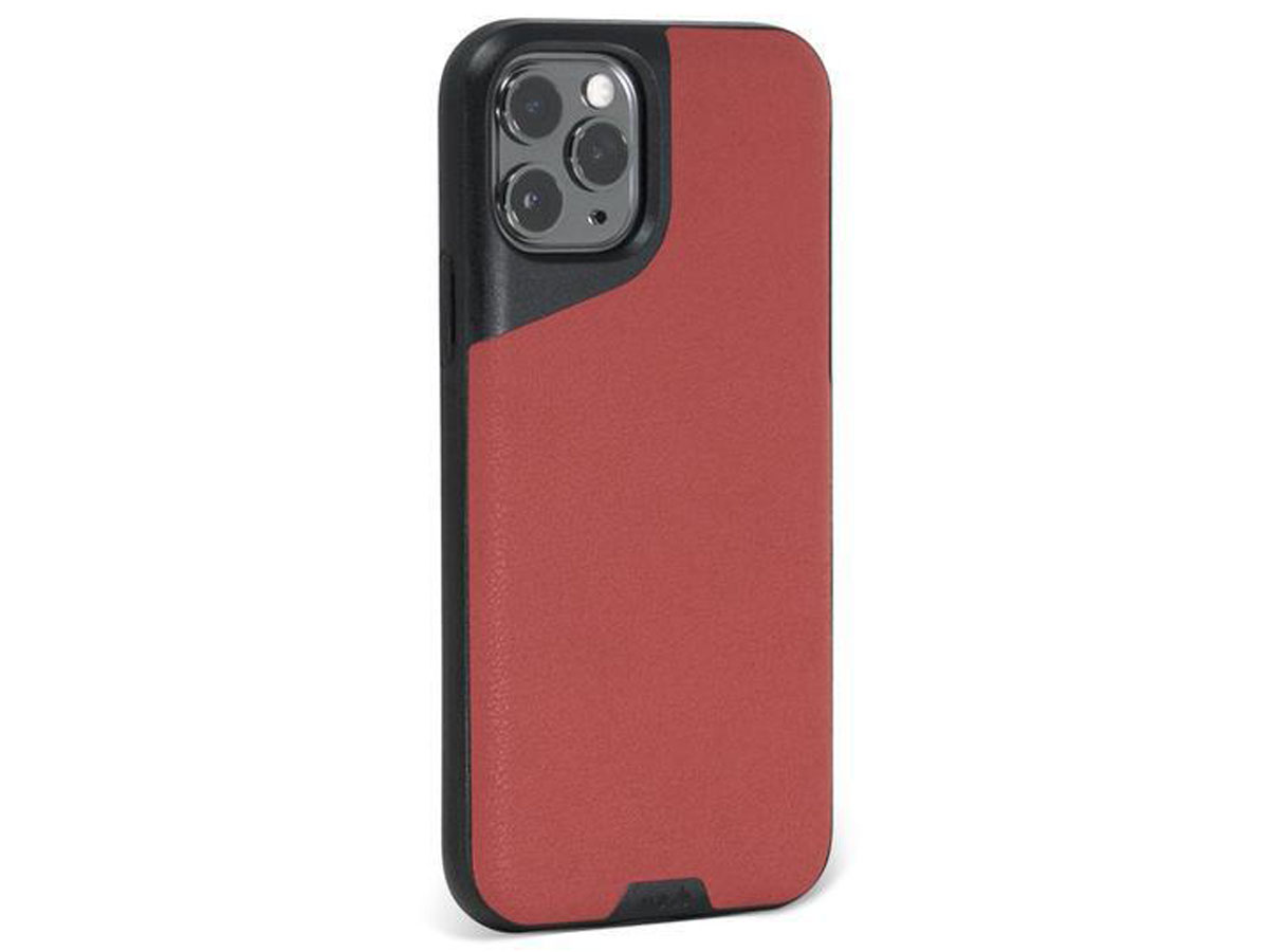 Mous Contour Leather Case Rood - iPhone 11 Pro Max hoesje