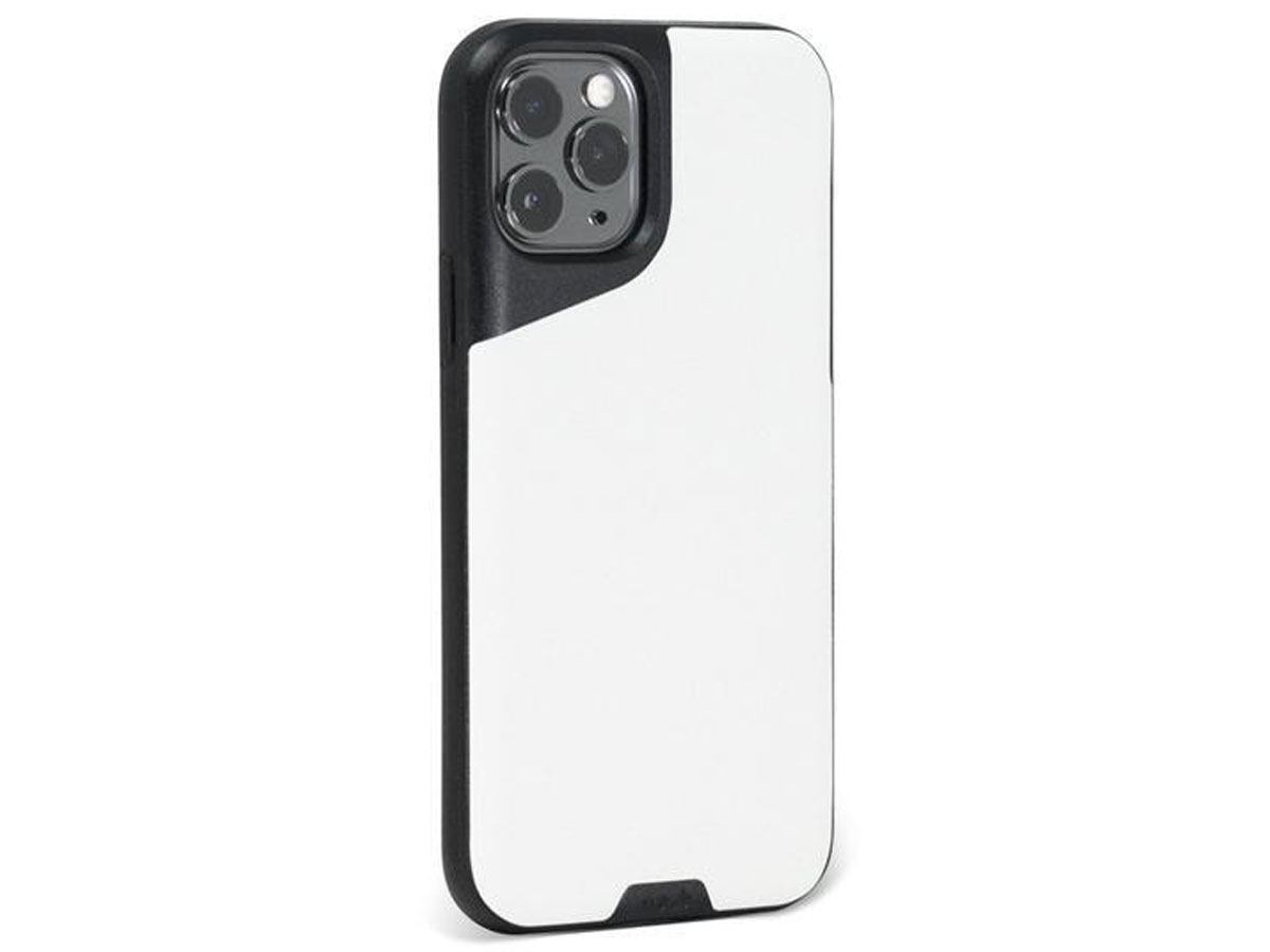 Mous Contour Leather Case Wit - iPhone 11 Pro Max hoesje