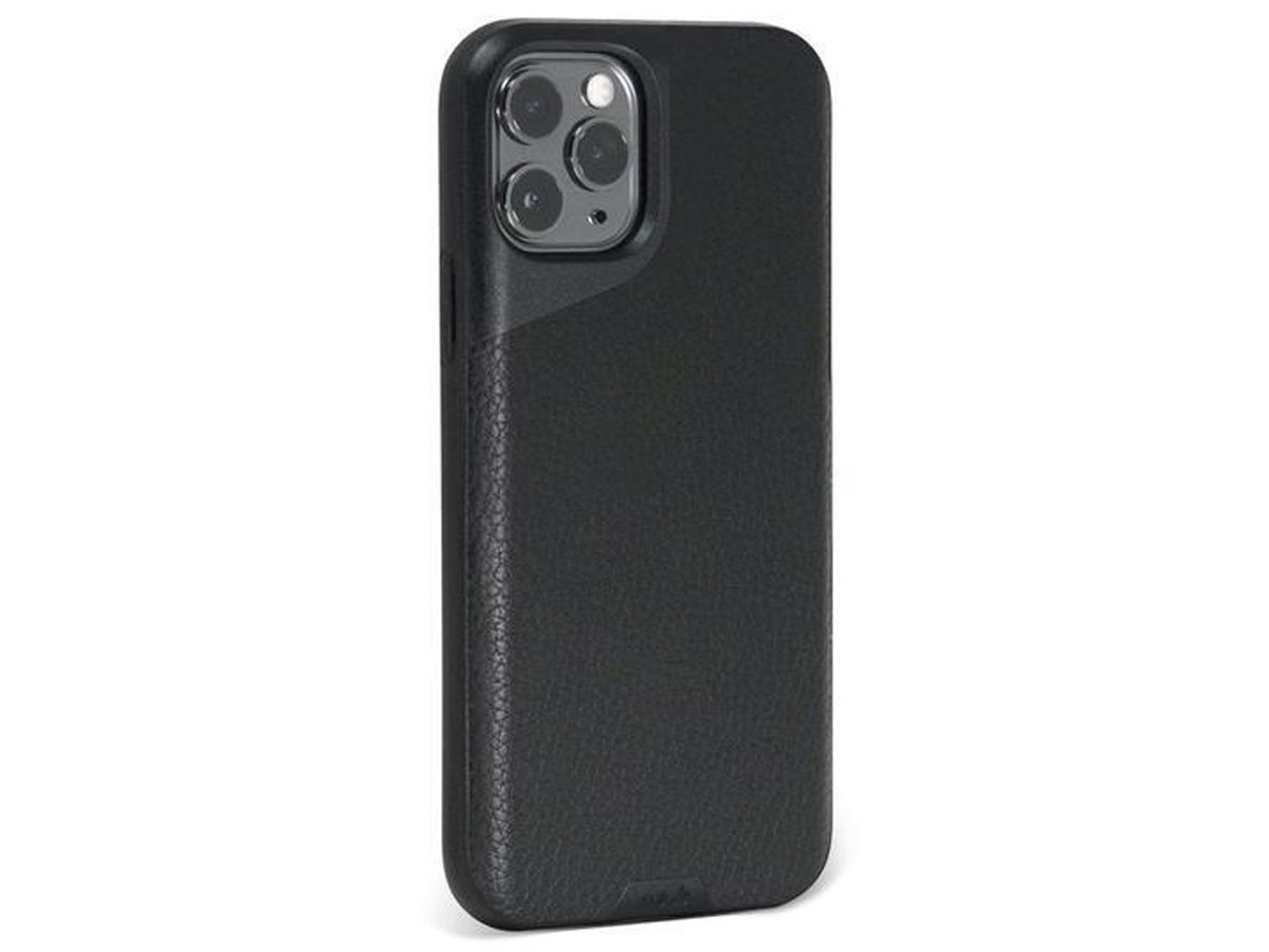 Mous Contour Leather Case Zwart - iPhone 11 Pro Max hoesje