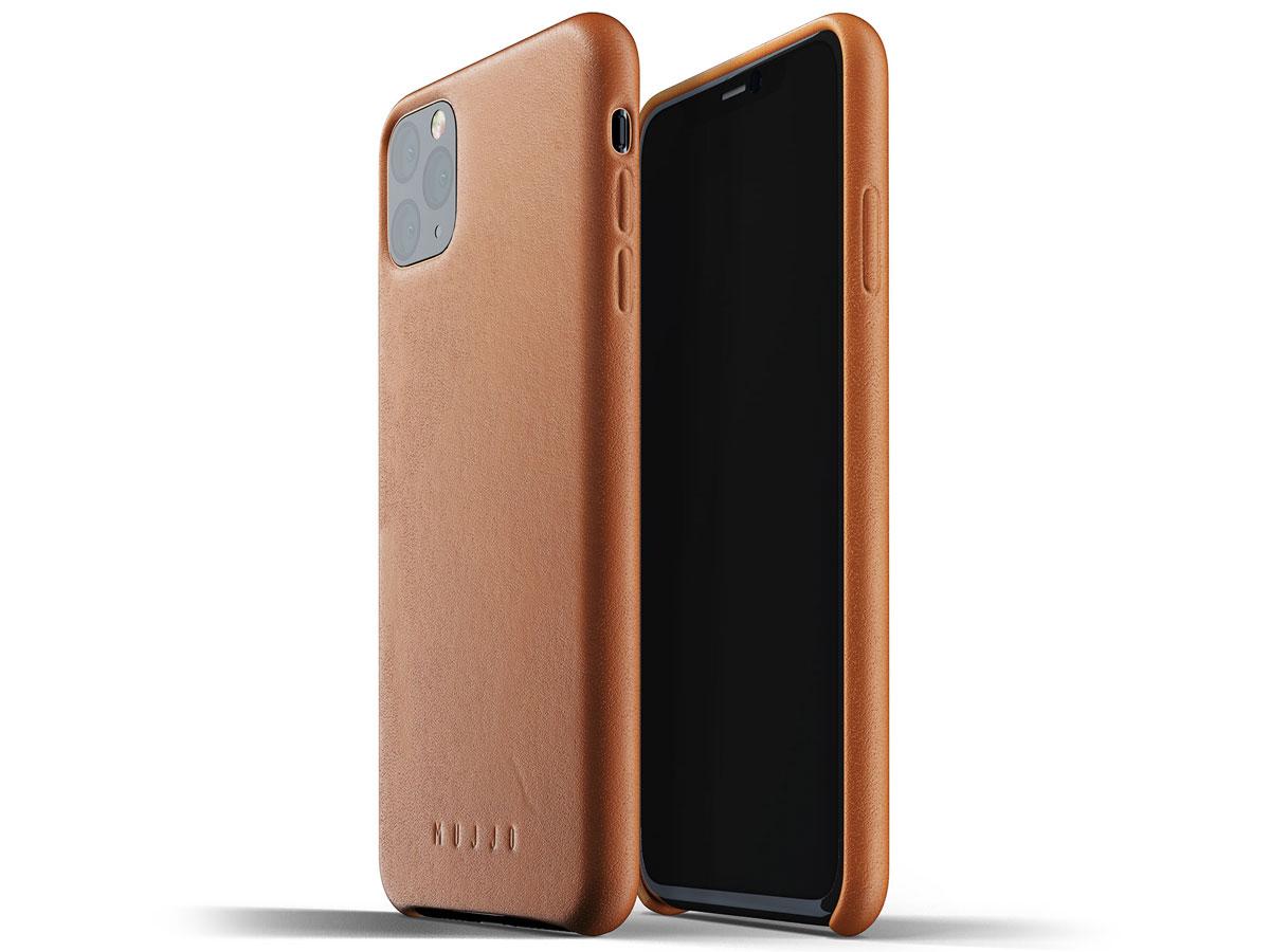 Mujjo Full Leather Case Tan Leer - iPhone 11 Pro Max Hoesje Cognac
