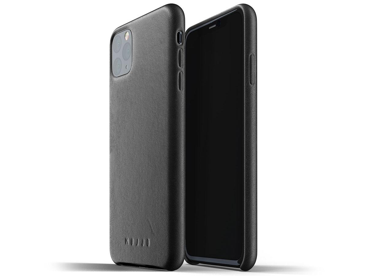 Mujjo Full Leather Case Zwart Leer - iPhone 11 Pro Max Hoesje