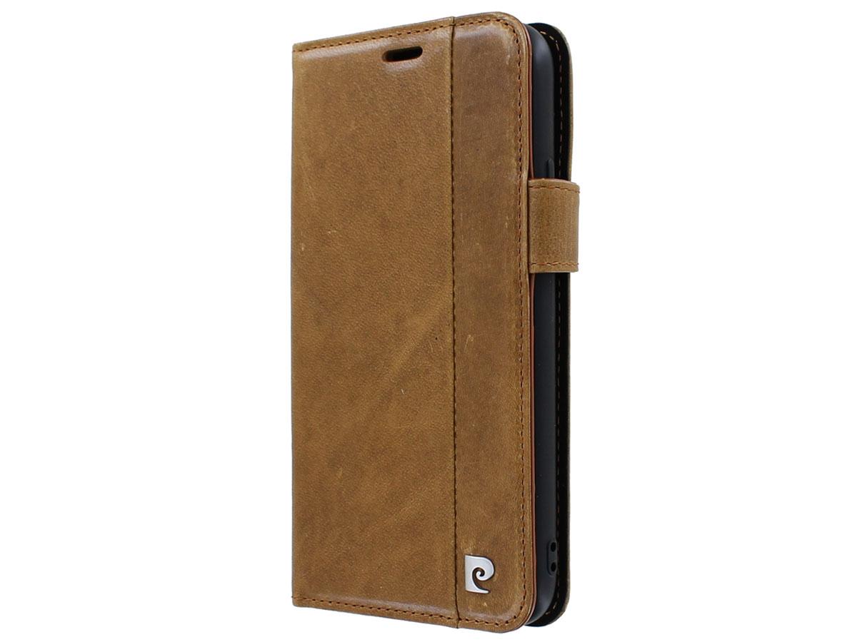 Pierre Cardin Bookcase Bruin Leer - iPhone 11 Pro Max hoesje