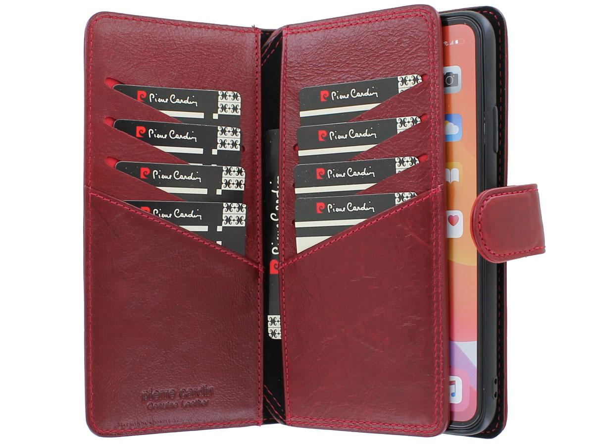 Pierre Cardin True Wallet Rood Leer - iPhone 11 Pro Max hoesje