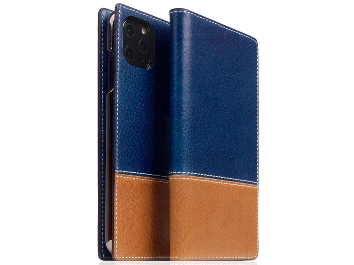SLG Design D+ Temponata Bookcase Blauw - iPhone 11 Pro Max hoesje