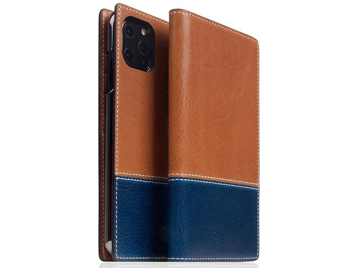 SLG Design D+ Temponata Bookcase Tan - iPhone 11 Pro Max hoesje Cognac