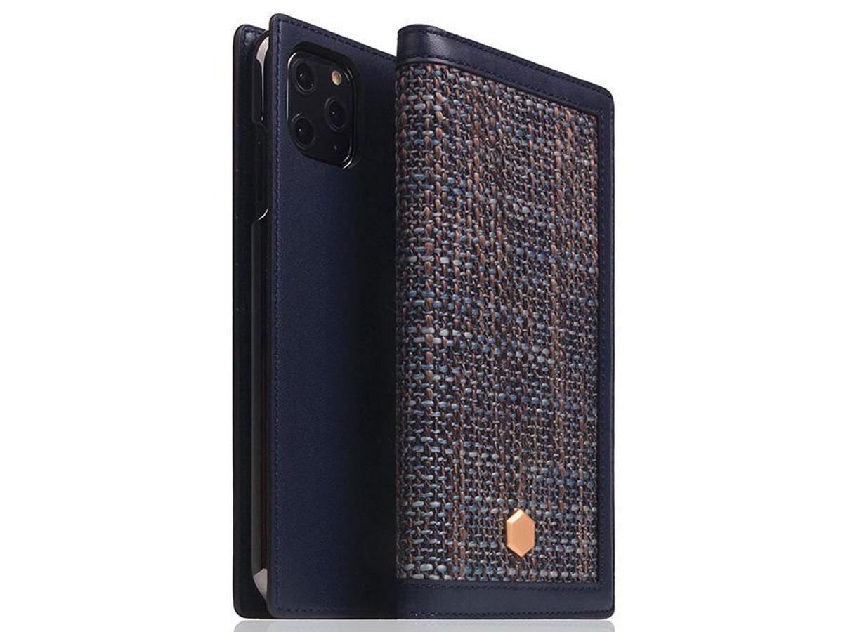 SLG Design D5 CSL Navy Leer - iPhone 11 Pro Max hoesje Donkerblauw