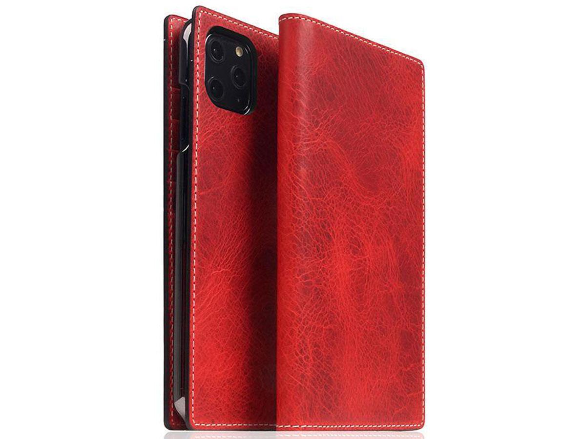 SLG Design D7 Italian Wax Leer Rood - iPhone 11 Pro Max hoesje