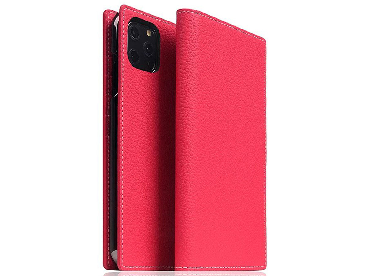 SLG Design D8 Folio Leer Pink Rose - iPhone 11 Pro Max hoesje Roze