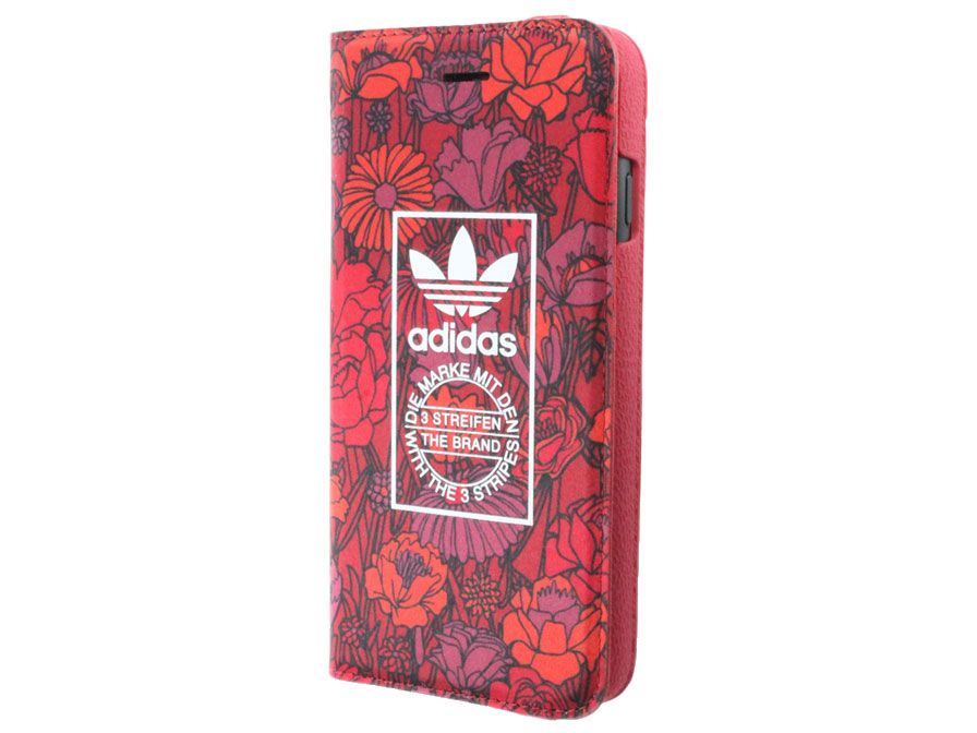 adidas Bohemian Red Booklet Case - iPhone 7 hoesje