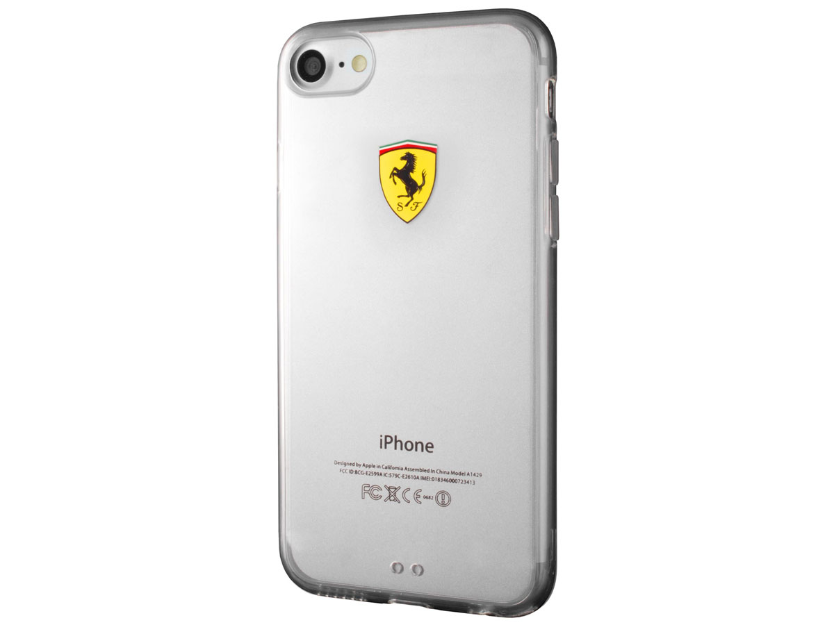 Ferrari Clear TPU Case - Doorzichtig iPhone 8/7 Hoesje