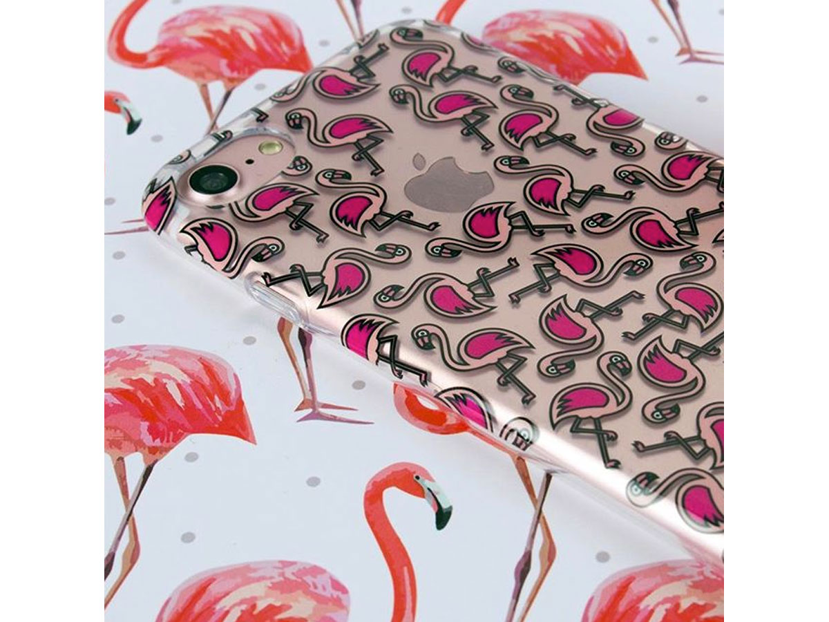 FLAVR Flamingo Case - Doorzichtig iPhone 8/7 hoesje