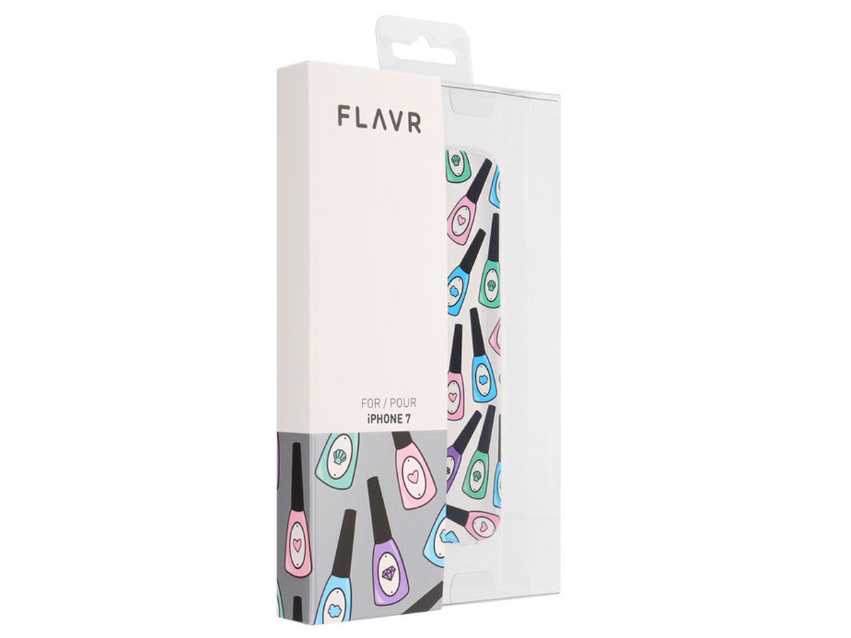 FLAVR Nagellak Clear Case - iPhone 8/7 hoesje