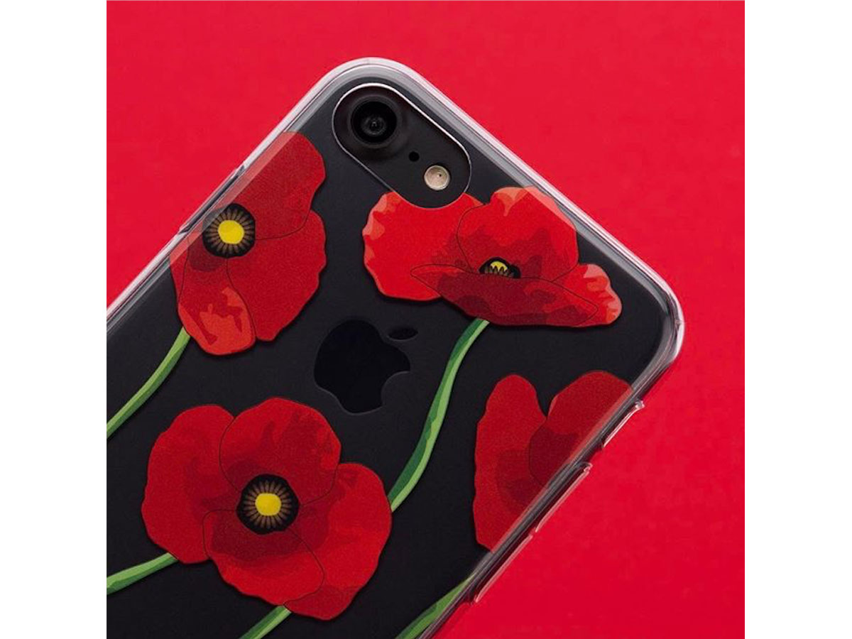FLAVR Poppy Case - Doorzichtig iPhone 7/6s hoesje