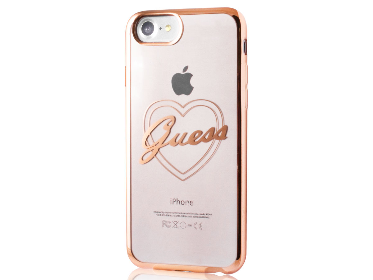 Guess Heart TPU Case - iPhone 8/7 hoesje