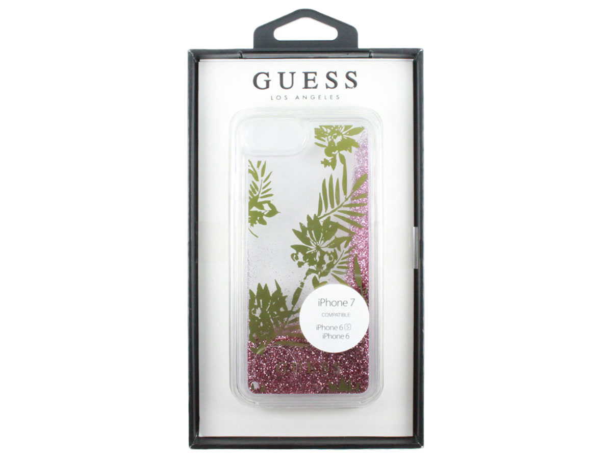 Guess Palm Spring Glitter Case - iPhone 8/7/6s hoesje