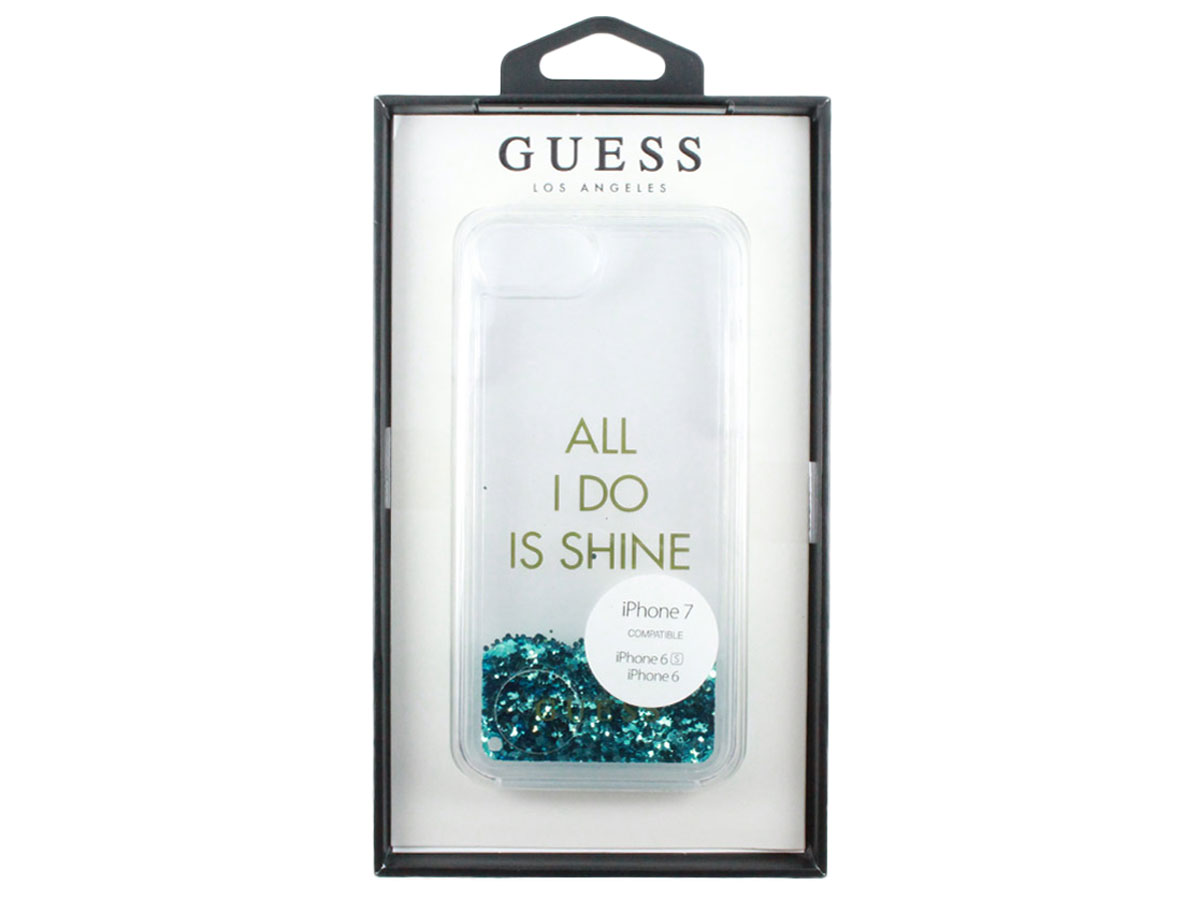 Guess Shine & Party Glitter Case - iPhone 8/7/6s hoesje